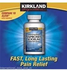 krikland kirkland signature naproxen sodium 220mg pain reliever 400 caplets
