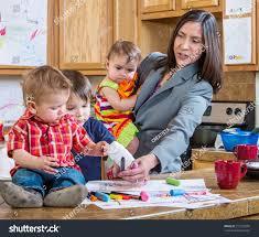 kitchen plays children stock photo 211235005