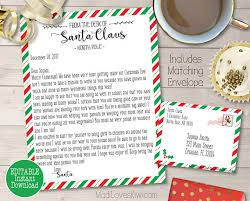 personalized letter from santa personalized letter from santa customized santa letter