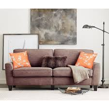 couch taupe serta rta astoria collection 73 in sofa camilla taupe ebay