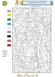 coloriage magique du soir de noël coloriage codé