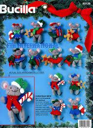 bucilla christmas mice 12 pce felt christmas ornament kit 83139