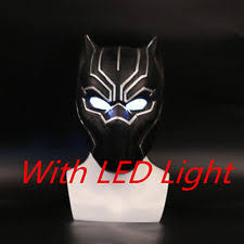 Black Panther Marvel Halloween Costume Marvel Black Panther Mask Helmet Props Halloween Costumes Cosplay
