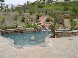 Backyard Pool With Slide - temecula pool slides u2013 backyard fun premier pools u0026 spas