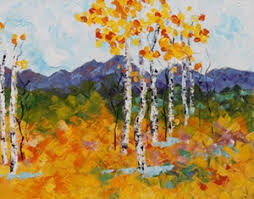 Impressionist Landscape Painting by Impressionism Aspen Tree Colorado Landscape Painting Fall Mosaic