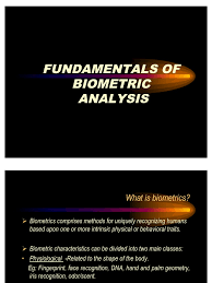 fundamentals of biometric analysis biometrics security technology