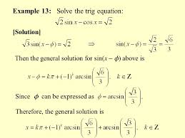 example 13 solve the trig equation
