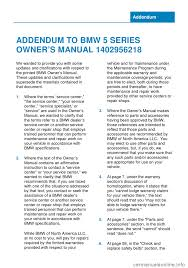 bmw 5 series 2014 f10 owner u0027s manual