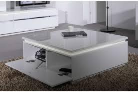 table basse carrée laque blanc trendymobilier