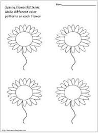 flower pattern flower patterns worksheets and flowers