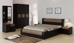 bed and side table set spacewood engineered wood bed side table wardrobe dressing