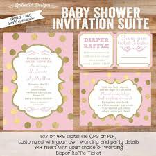Free Baby Shower Invitation Cards Template Pink And Gold Unique Cards Free U Elsoar Unique Baby