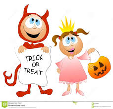 trick or treat kids costumes stock image image 3378961