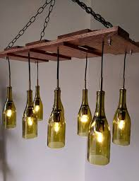 Wine Bottle Chandeliers Wine Bottle Chandelier Reserved Item Currently On Hold
