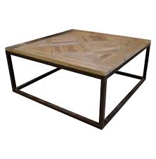 reclaimed wood and metal coffee table with concept picture 4570