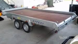 carrello porta auto usato vendesi usato carrello nuovo a doppio asse per trasporto cose in vendita