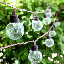 solar string lights clear orb solar led 20 bulb string lights solar led bulbs and solar