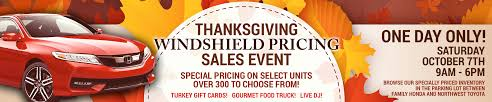thanksgiving windshield pricing sales event family honda