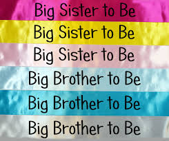 big brother sister to be sash baby shower gift mummy to be