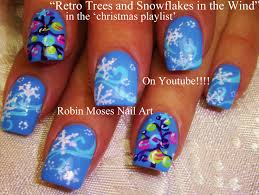 Retro Christmas Lights by Robin Moses Nail Art Christmas Lights At Night Nail Art