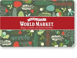 shop world market gift cards can be any price