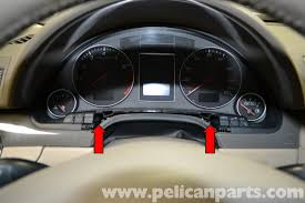audi a4 b6 instrument cluster removal 2002 2008 pelican parts