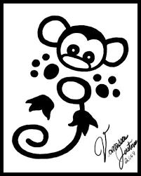 27 best outline tattoos tiny monkey images on pinterest tiny