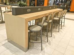 Desk With Outlets by Waterfall Communal Table Cubecart