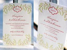 letterpress holiday invitations smock