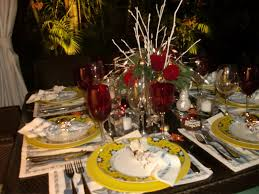 good nature table setting intimate christmas dinner party