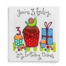 3 big birthday wishes handmade 3rd birthday card 2 60 a great
