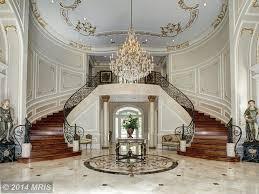 art deco entryway with crown molding u0026 limestone tile floors in