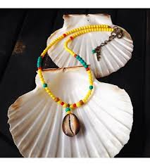 necklace with shell pendant images Acrylic beads necklace with shell pendant jpg