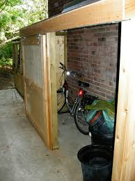 Exterior Shed Doors Small Storage Shed With Sliding Door Contemporary Exterior