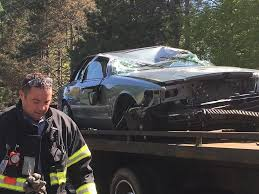 woman hospitalized in east bridgewater rollover accident news