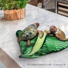 tortoise home decor animal murano glass sculpture turtle island free shipping