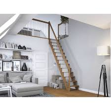 dolle treppe dolle raumspartreppe lyon eiche metallgeländer 65 cm gerade kaufen