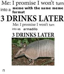 Armadillo Meme - me i promise i won t turn into a meme with the same meme format 3