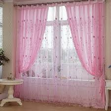 Outdoor Sheer Curtains For Patio Modern Embroidered Sheer Curtains Design For Large Window Nice
