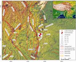 Tibetan Plateau Map Primary Surface Ruptures Of The Ludian Mw 6 2 Earthquake