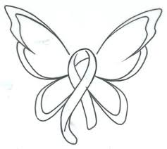breast cancer ribbon coloring pages butterfly ribbon 7 breast cancer