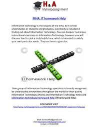 it homework help homework