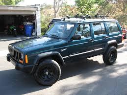 jeep cherokee sport green 98 jeep cherokee sport 4x4 for sale 72k miles roof rack 3750