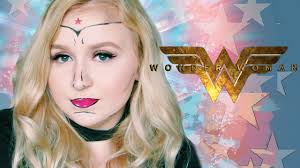 last minute easy wonderwoman halloween makeup tutorial pop art
