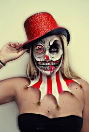 Scary Women Halloween Costumes 25 Scary Clown Makeup Ideas Scary Clown
