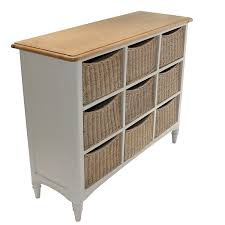 Drawer Storage Units Melford Painted Multi Chest Nine Drawer Storage Unit Wicker