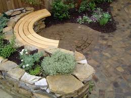 How To Make A Curved Bench Seat Cool Diy Curved Bench Seat From Light Brown Unfinished Wood On