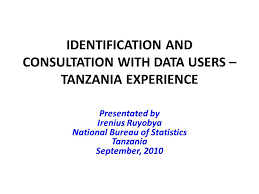 national bureau of statistics identification and consultation with data users tanzania