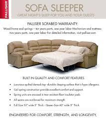 Palliser Alula Corissa 77500 70500 Sleeper Sectional 450 Sofas And Sectionals