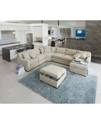radley 5 piece fabric chaise sectional sofa radley fabric sectional living room furniture sets pieces macys